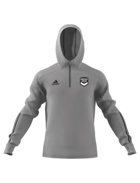 Sweat capuche training adidas gris Adulte