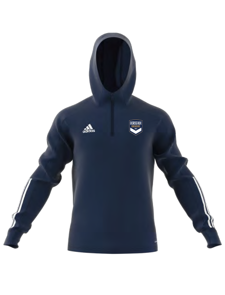 Sweat capuche training adidas marine Adulte