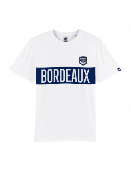 Tshirt Bordeaux Blanc Adulte