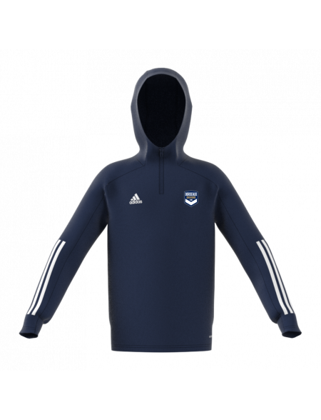 Sweat capuche training adidas marine Junior