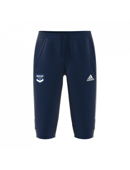 Pantalon 3/4 training adidas marine Adulte